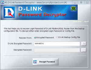 D-Link PasswordDecryptor
