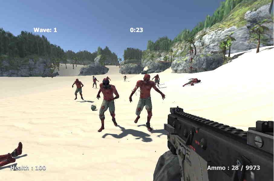 3D Zombi Askerler