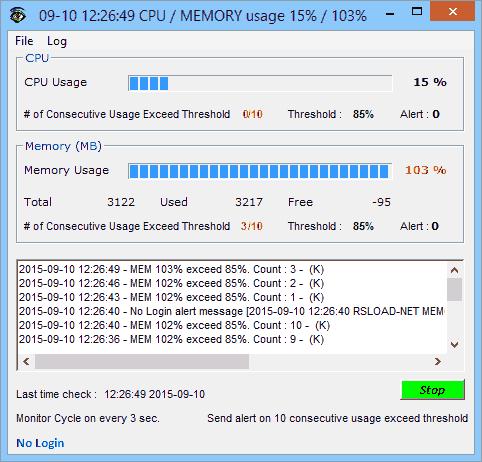 CPU Monitor and Alert v3.1