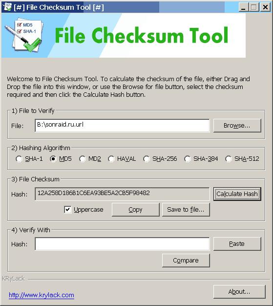 File Checksum Tool 1.30.27