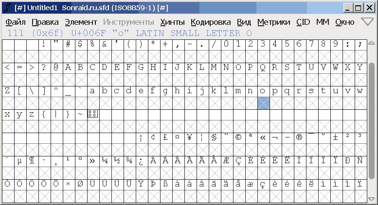 FontForge 13