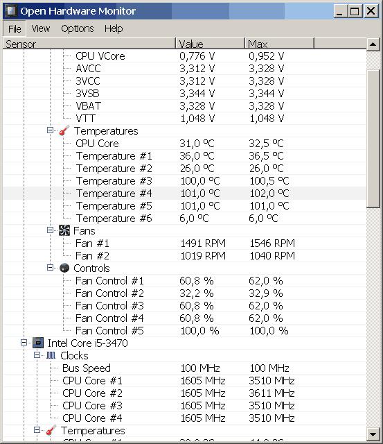 Open Hardware Monitor v0.8.0 Beta
