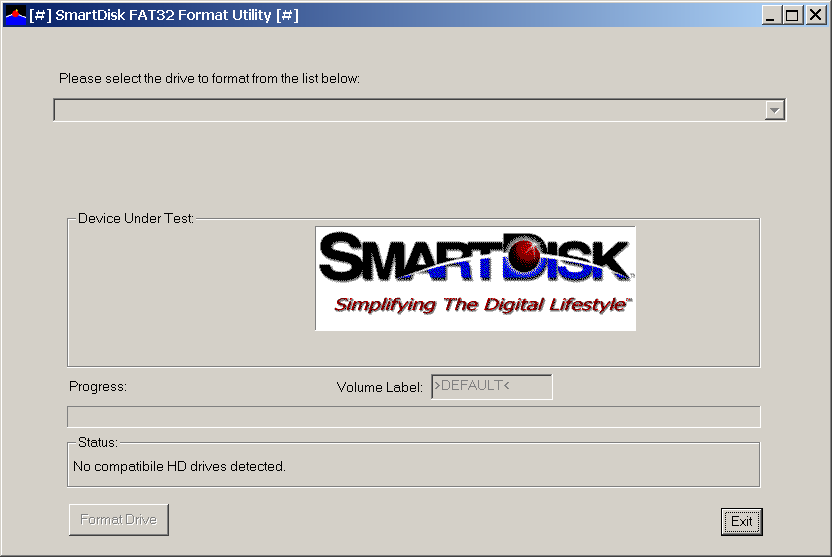 SmartDisk FAT32 Format Utility 1.0.0.1