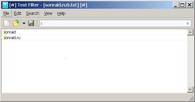 Text Filter 1.7.0.677