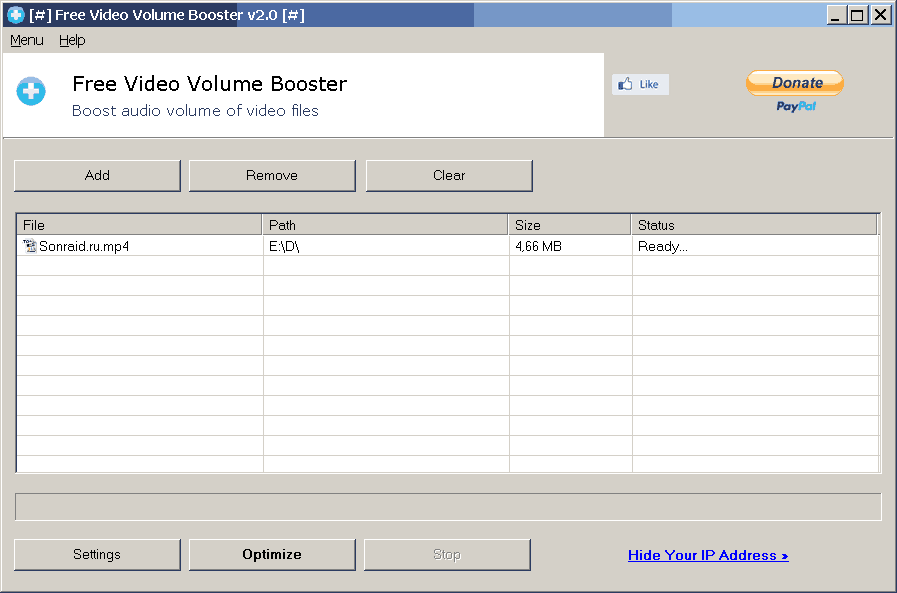 Free Video Volume Booster 2.0.0.0
