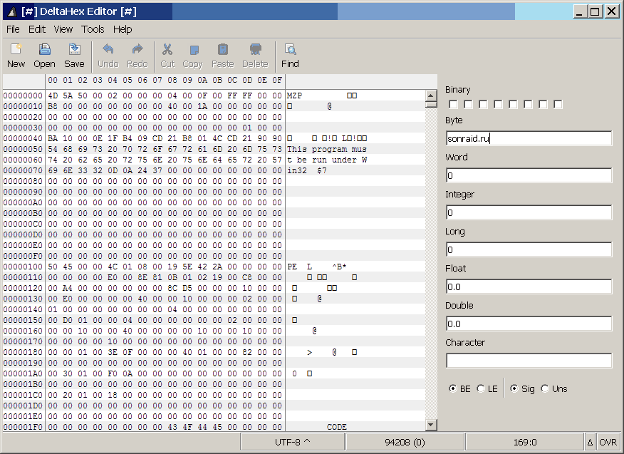 DeltaHex Editor 0.1.3 portable
