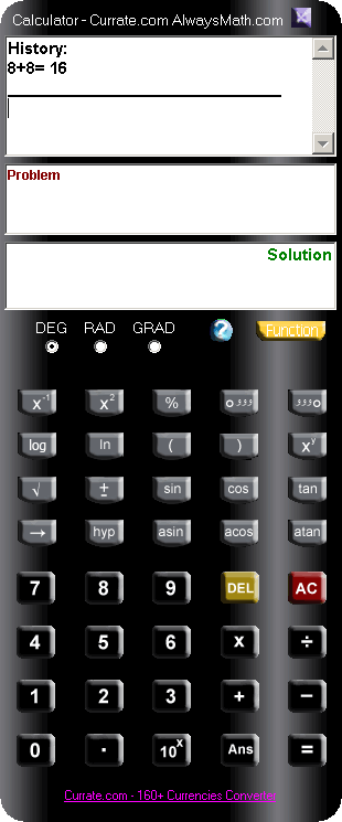 Calculator - Currate.com AlwaysMath.com