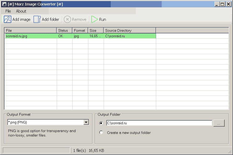 Morz Image Converter