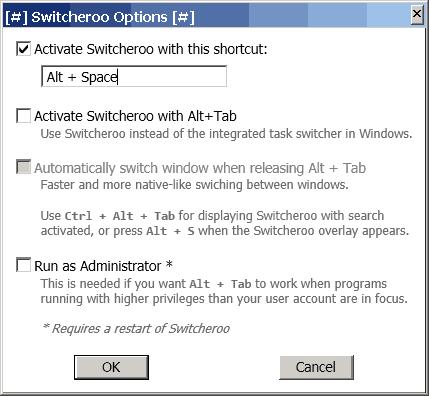 Switcheroo options