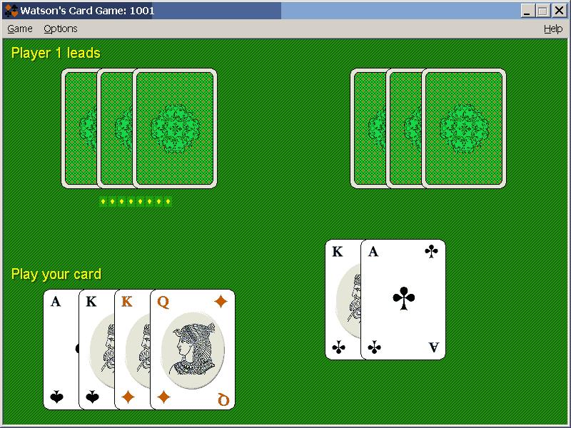 Watson's Card Game1001