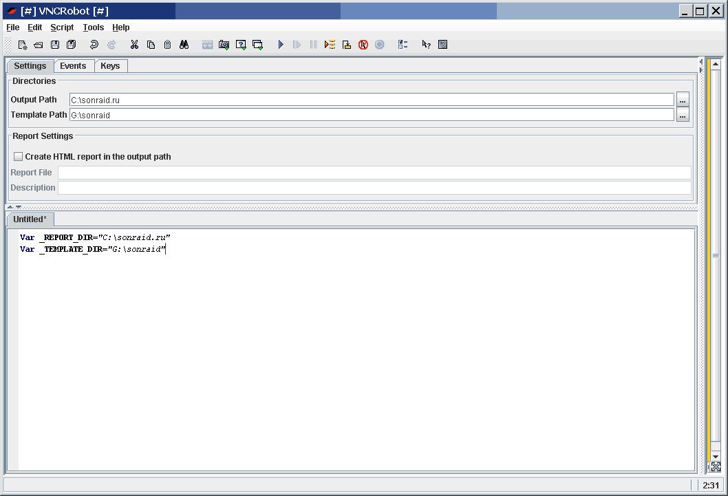 VNCRobot offline
