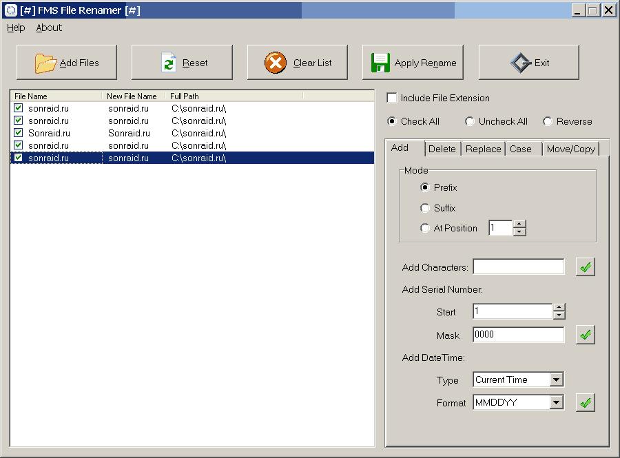 FMS File Renamer 2.1.7