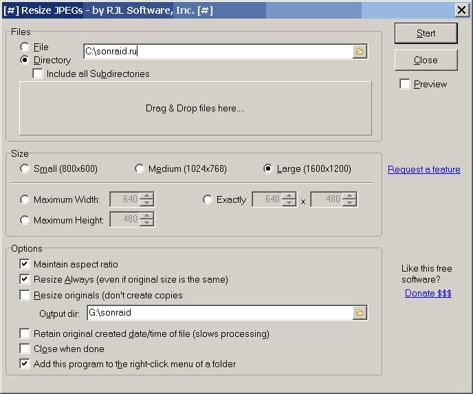 Resize JPEGs 1.01