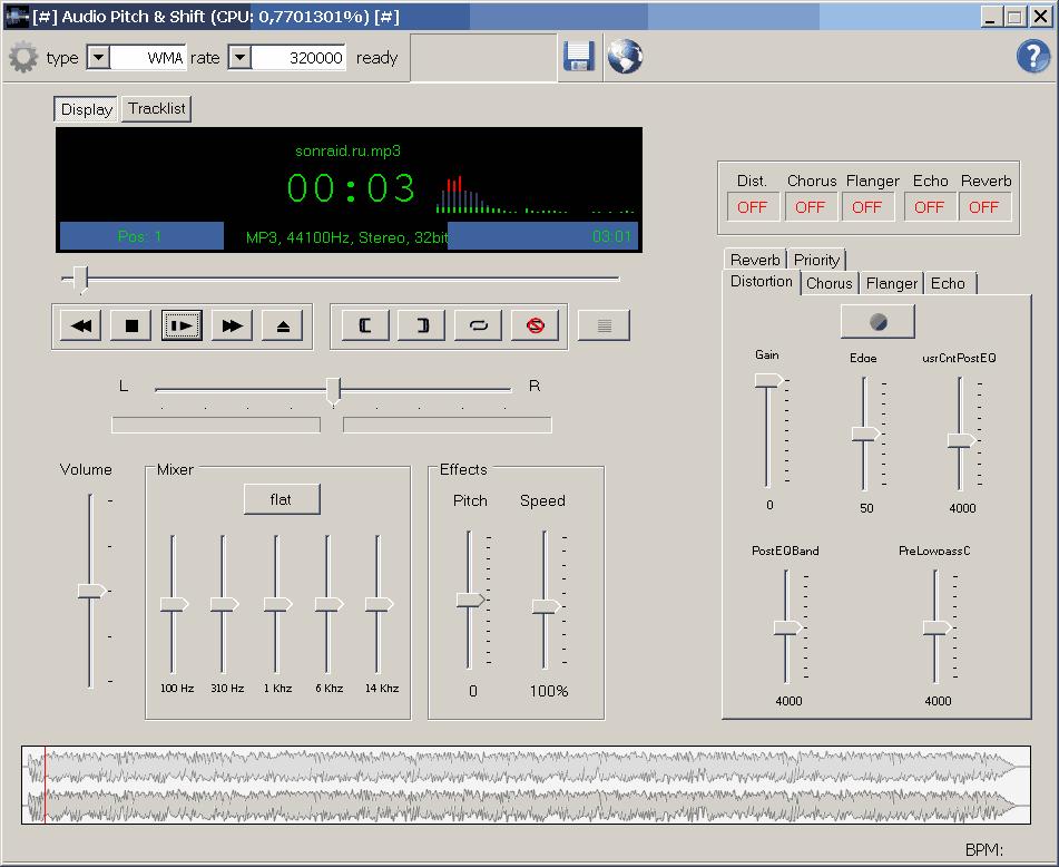 Audio Pitch & Shift