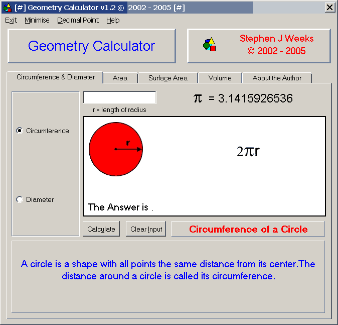 Geometry Calculator 1.2