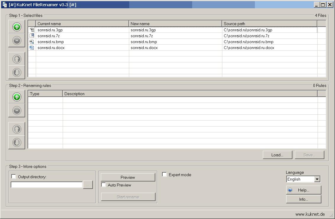 KuKnet FileRenamer 3.3