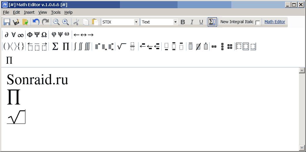 Math Editor 1.0.6.6