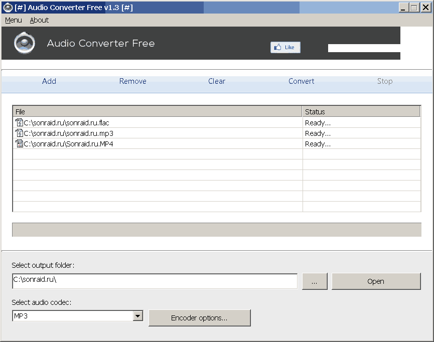 Audio Converter Free 1.3