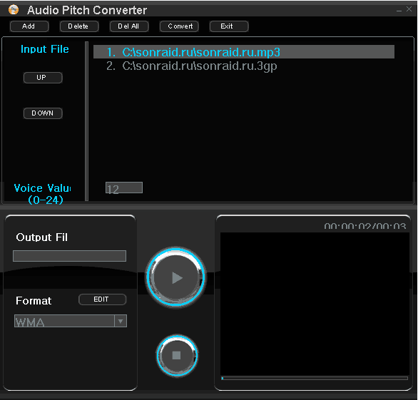 Audio Pitch Converter