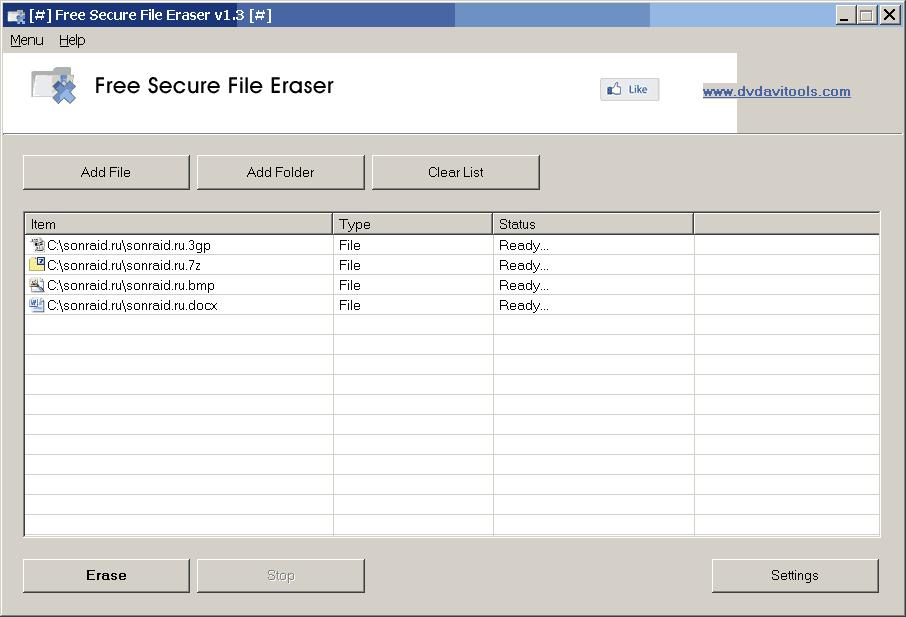 Free Secure File Eraser 1.3
