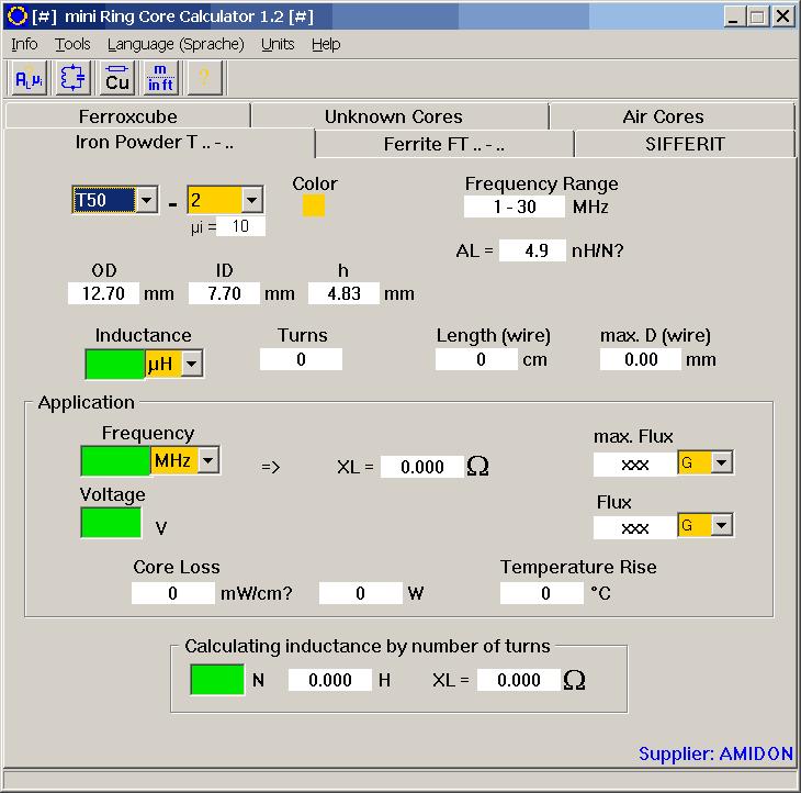 mini Ring Core Calculator 1.2