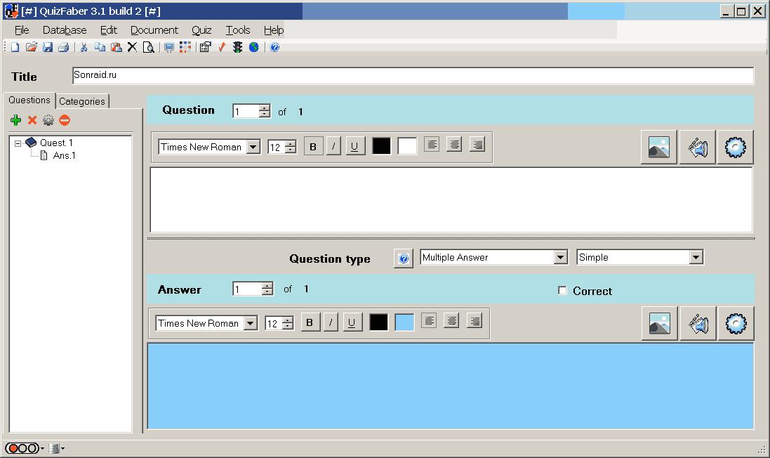 QuizFaber 3.1 Build 2