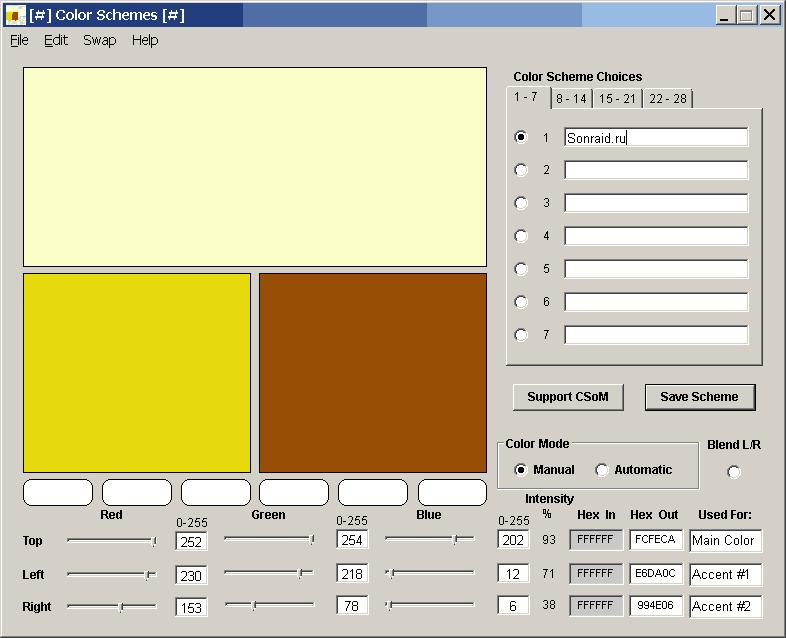 Color Schemes 5.0.4