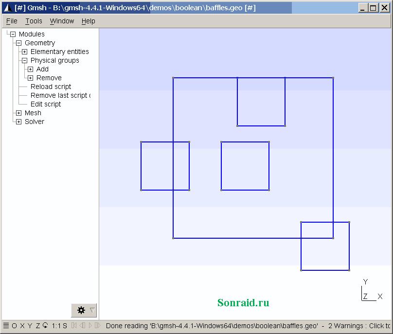 Gmsh 4.4.1