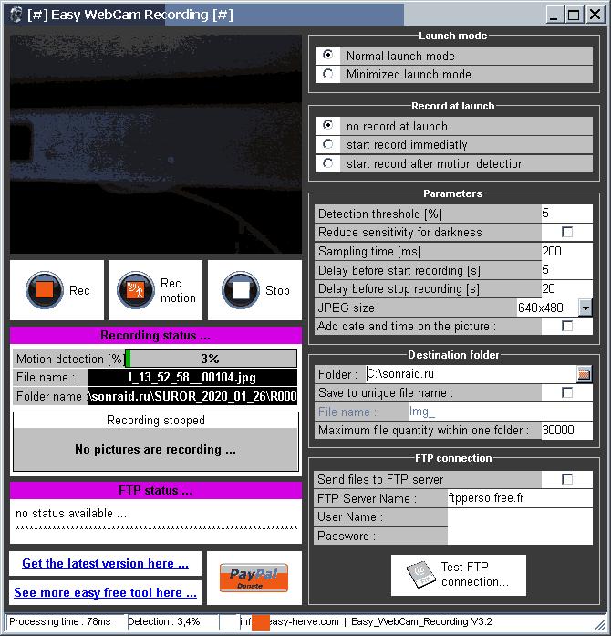 Easy WebCam Recording 3.2