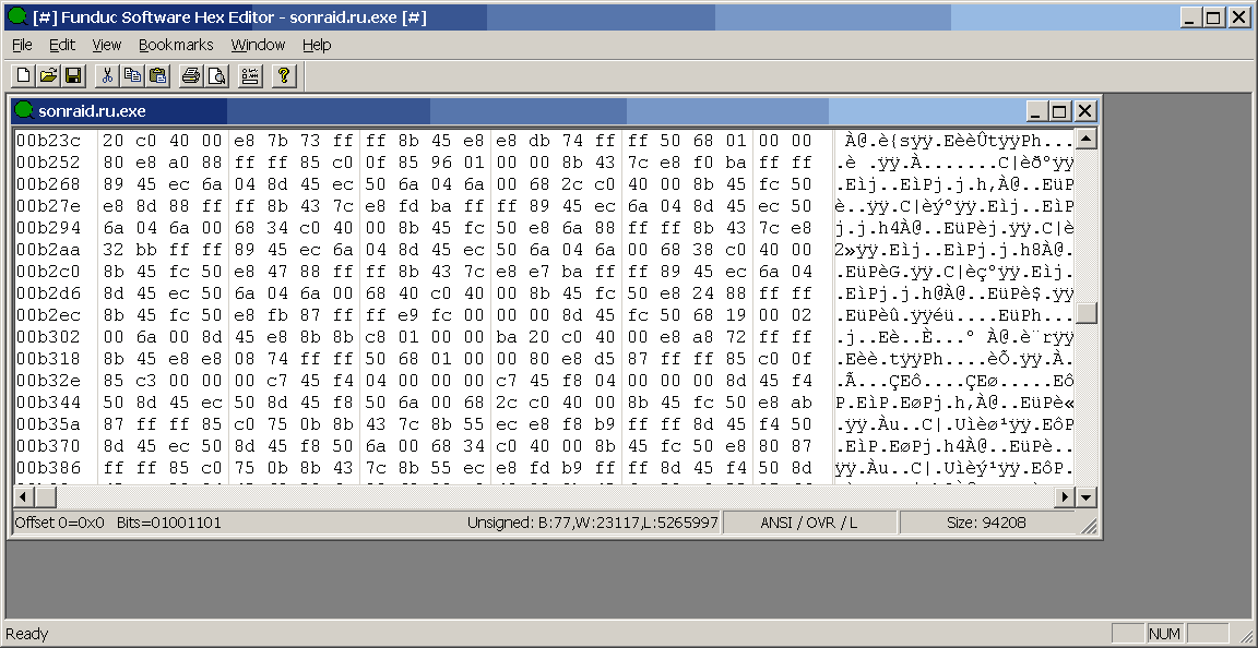 Funduc Software Hex Editor 2.3