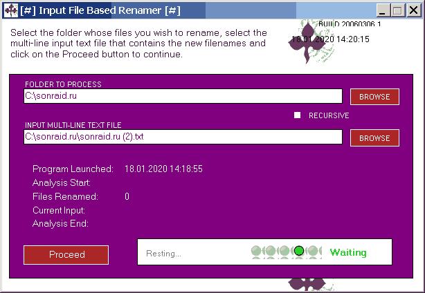 Input File Based Renamer