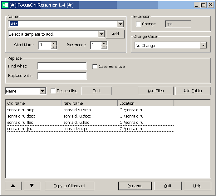 FocusOn Renamer 1.4