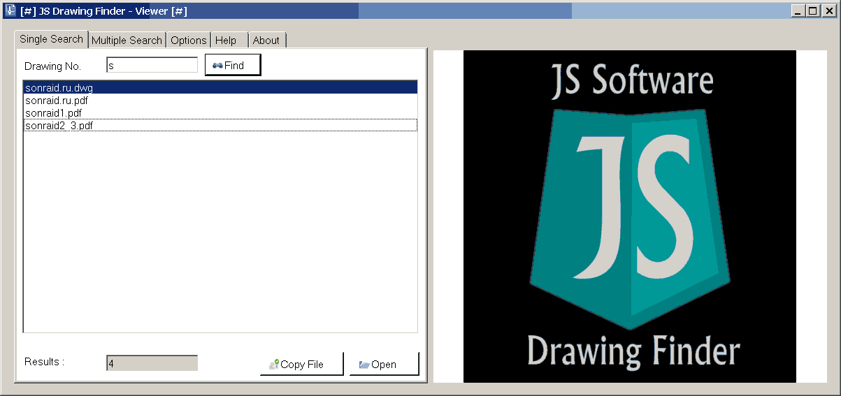JS Drawing Finder - Viewer 1.10