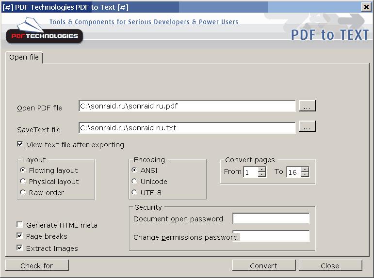 PDF Technologies PDF to Text
