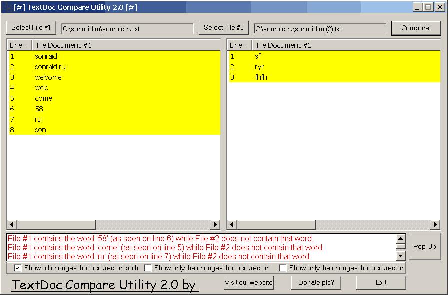 TextDoc Compare Utility 2.0
