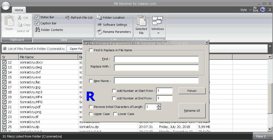 Daanav File Renamer 1.0