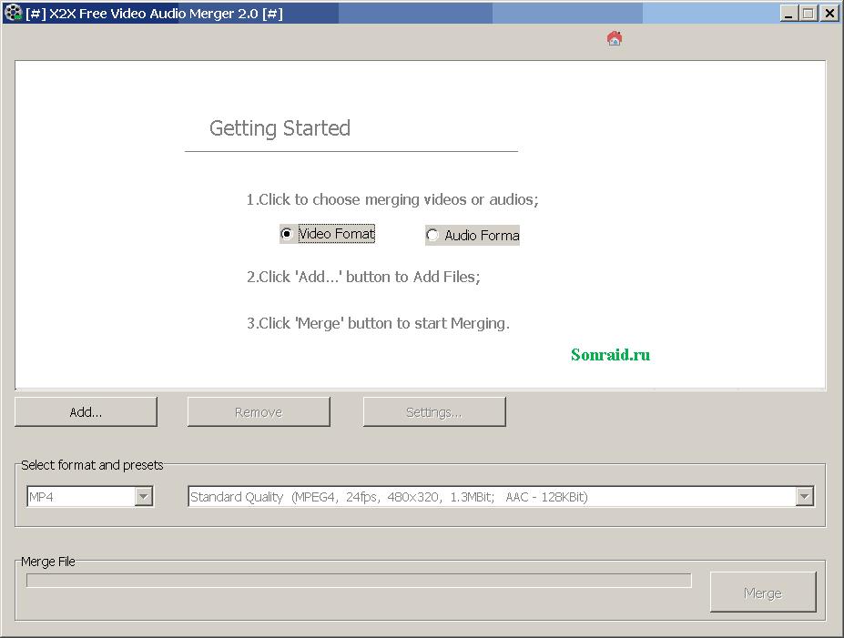 X2X Free VideoAudio Merger 2.0