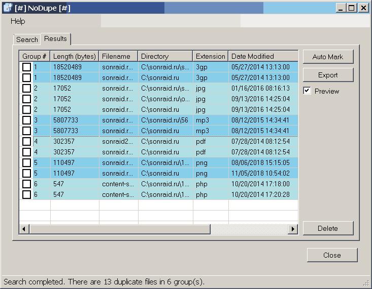 NoDupe 1.17.1.0