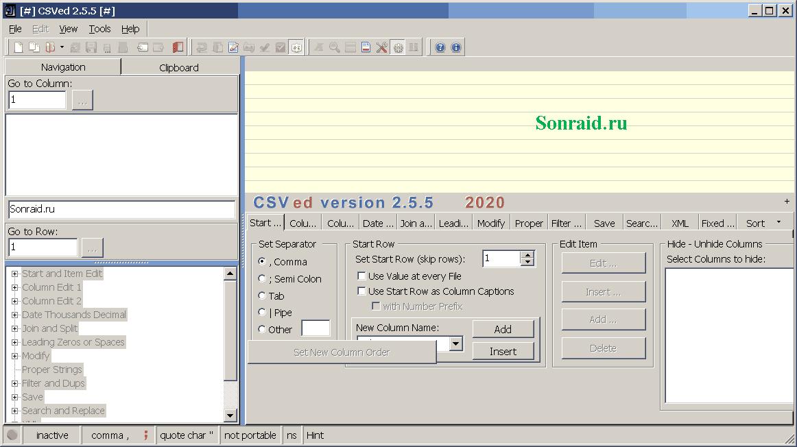CSVed 2.5.5