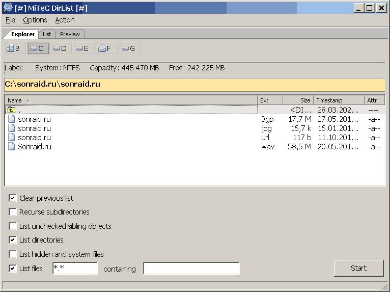 MiTeC DirList 1.3.0.0