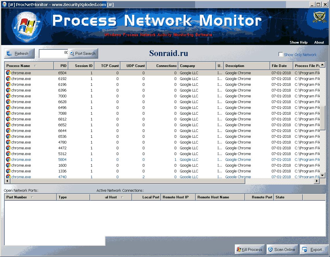 Process Network Monitor  7.0
