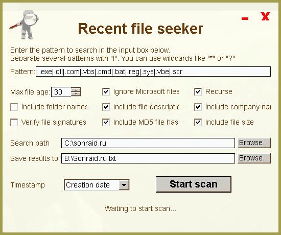 Recent file seeker 2.0.0.0
