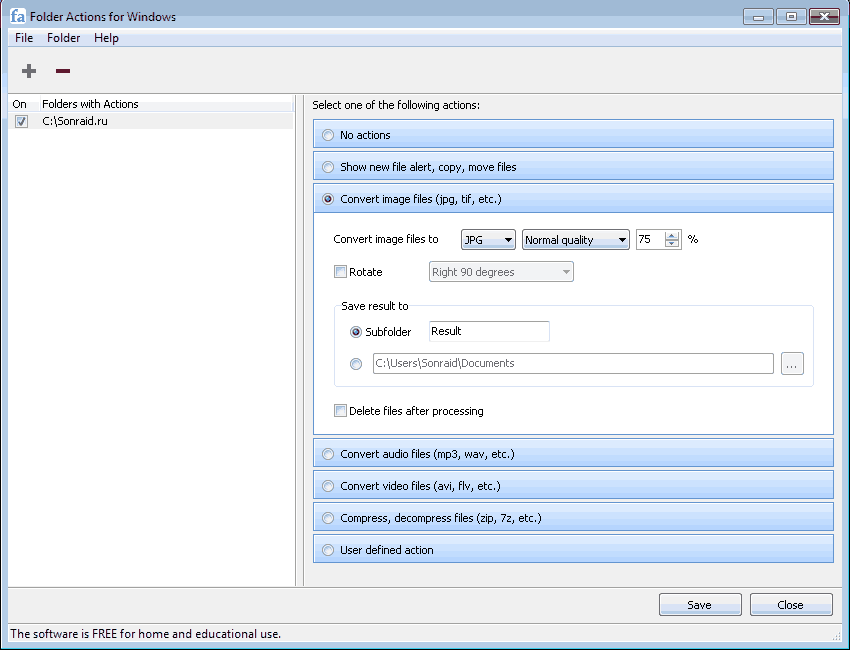 Folder Actions 1.1