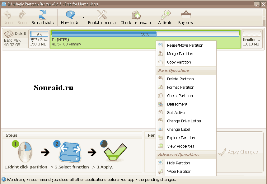 IM-Magic Partition Resizer 3.6.5
