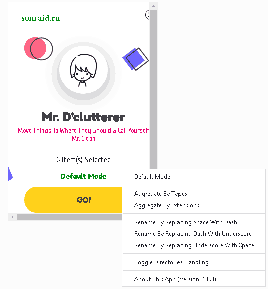 Mr. D'clutterer 1.0.0