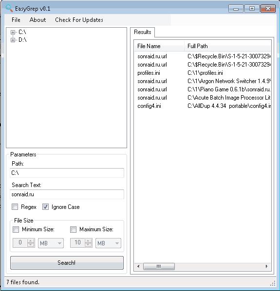 EasyGrep 0.1