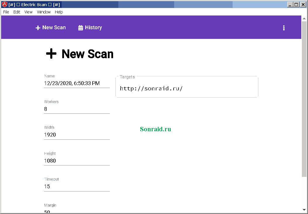 Electric Scan 0.1.0