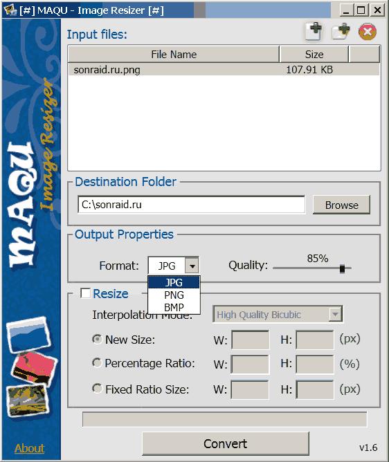 MAQU - Image Resizer 1.6