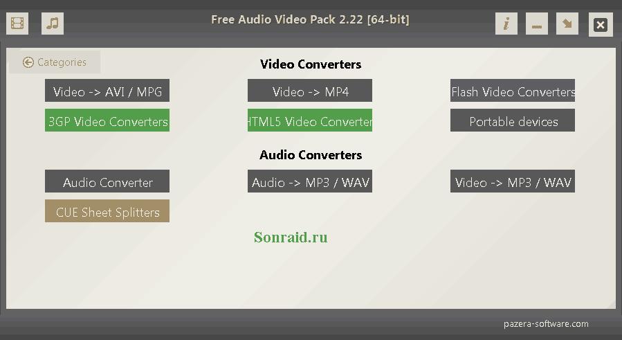 Free Audio Video Pack 2.22