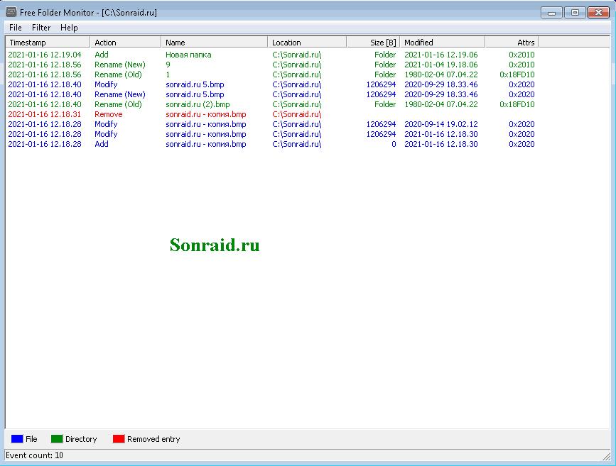 Free Folder Monitor 8.8.1